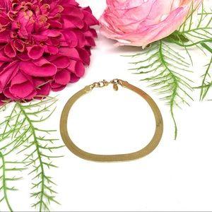VINTAGE⚜️MONET Golden Herringbone Shiny Bracelet